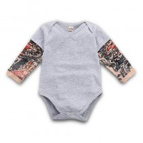 Baby Boy Prints Long Sleeves Cotton Bodysuit