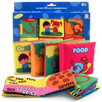 Baby's First Touch and Feel Soft Cloth Book Set 6 Packs