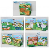 Baby's First Touch and Feel Soft Cloth Book Learn Farms Animals