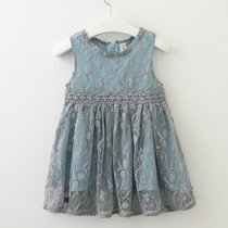 Girls Lace Summer Sleeveless Princess Dress