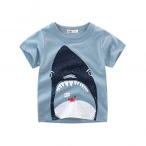 Boys Print Shark T-shirt