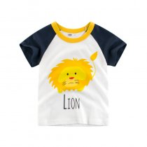 Boys Print Lion T-shirt