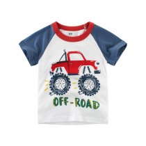 Boys Print Jeep Truck T-shirt