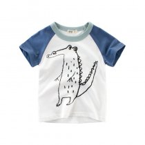 Boys Print Crocodile T-shirt