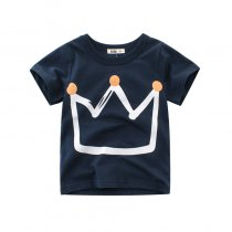 Boys Print Crown T-shirt