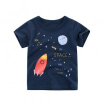 Boys Print Space Navy T-shirt