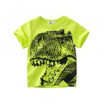 Boys Print Dinosaur Skating T-shirt