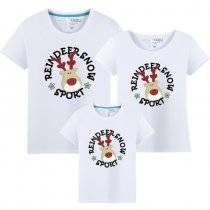 Matching Family Prints Deer Famliy T-shirts