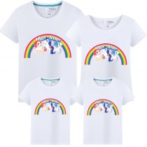 Matching Family Prints Rainbow Pony Famliy T-shirts