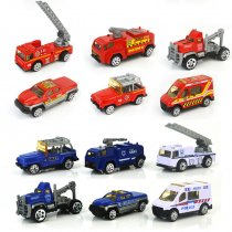 6 PCS Model 1/64 Scale Alloy Sliding Engineering Vehicles Toy Cars For 3Y+ Kids