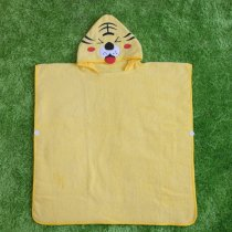 Yellow Tiger Hooded Bathrobe Towel Bathrobe Cloak For Toddlers & Kids