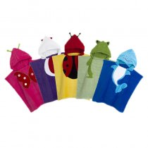 Cute Animals Hooded Bathrobe Towel Bathrobe Cloak For Toddlers & Kids Size 27.5*55inch