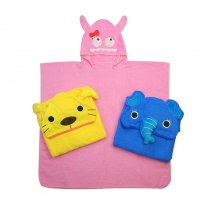 Baby Cute Animals Hooded Bathrobe Towel Bathrobe Cloak Size 27.5*55inch
