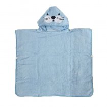 Blue Seal Hooded Bathrobe Towel Bathrobe Cloak For Toddlers & Kids