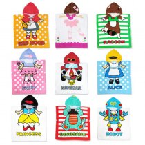 Cute Dinosaur Robot Hooded Bathrobe Towel Bathrobe Cloak For Toddlers & Kids Size 27.5*55inch