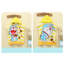 Baby Cartoon Cat Hooded Bathrobe Towel Bathrobe Cloak Size 24 *47