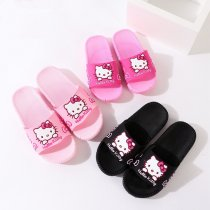 Toddlers Kids Cartoon Hello Kitty Bowknot Flat Beach Slippers