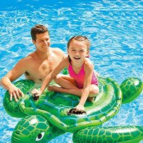 Green Sea Turtles Ride-On Inflatable Pool Floats Toy For Kids Child Adults