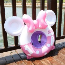 Toddler Kids Pool Floats Inflated Swimming Rings Print Mickey Minny Thick Sitting Swimming Circle