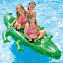 Green Crocodile Ride-On Inflatable Pool Floats Toy For Kids Child Adults