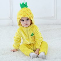 Baby Yellow Pineapple Onesie Kigurumi Pajamas Kids Animal Costumes for Unisex Baby