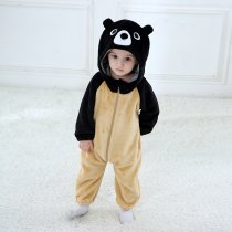 Baby Black Bear Onesie Kigurumi Pajamas Kids Animal Costumes for Unisex Baby