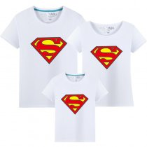 Matching Family Prints Superman Famliy T-shirts