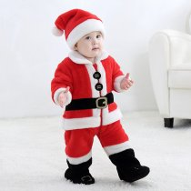Baby Red Father Christmas Onesie Kigurumi Pajamas Kids Animal Costumes for Unisex Baby