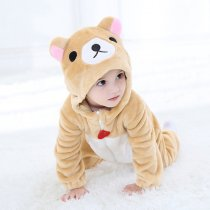 Baby Yellow Brown Cute Bear Onesie Kigurumi Pajamas Kids Animal Costumes for Unisex Baby