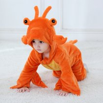 Baby Orange Lobster  Onesie Kigurumi Pajamas Kids Animal Costumes for Unisex Baby