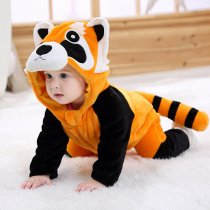 Baby Orange Little Raccoon Onesie Kigurumi Pajamas Kids Animal Costumes for Unisex Baby