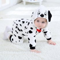 Baby White Spotty Dog Onesie Kigurumi Pajamas Kids Animal Costumes for Unisex Baby