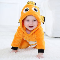 Baby Yellow Clownfish Onesie Kigurumi Pajamas Kids Animal Costumes for Unisex Baby