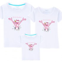Matching Family Prints Pink Panther Slogan Famliy T-shirts
