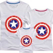 Matching Family Prints Captain America Shield Famliy T-shirts