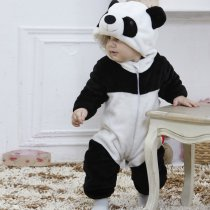 Baby Black Panda Onesie Kigurumi Pajamas Kids Animal Costumes for Unisex Baby