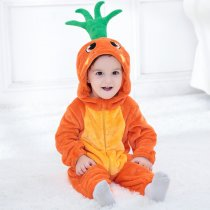 Baby Orange Carrot Onesie Kigurumi Pajamas Kids Animal Costumes for Unisex Baby