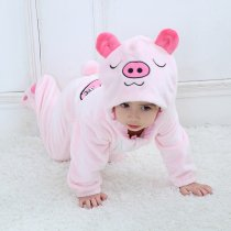 Baby Pink Pig Onesie Kigurumi Pajamas Kids Animal Costumes for Unisex Baby