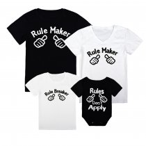 Matching Family Prints Slogan Rule Maker T-shirts