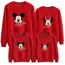 Matching Family Prints Mickey Famliy Sweatshirts Top
