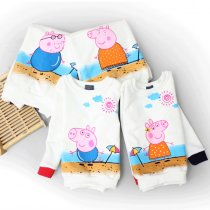 Matching Family Prints Peppa Pig Famliy Sweatshirts Top