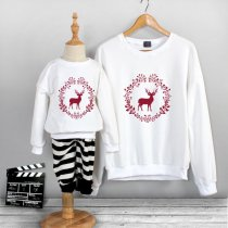 Matching Family Prints Deer Famliy Sweatshirts Top