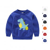 Boy Print Cute Dinosaur Cotton Sweatshirts