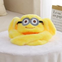 Yellow Minions Funny Animal Movable Ears Jumping Soft Plush Hat