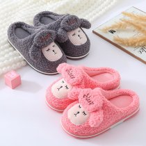 Toddlers Kids Plush Sheep Flannel Warm Winter Home House Slippers