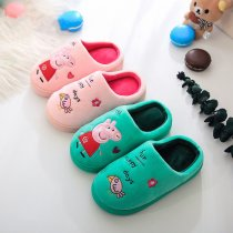 Toddlers Kids Embroidered Peppa Pig Warm Winter Home House Slippers