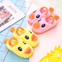 Toddlers Kids Plush Duck Flannel Warm Winter Home House Slippers