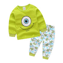 Kids One Eyed Monster Pajamas Sleepwear Set Long-sleeve Cotton Pjs