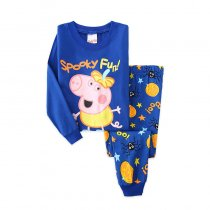 Kids Halloween Peppa Pig George Pajamas Sleepwear Set Long-sleeve Cotton Pjs