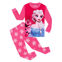 Kids Frozen Princess Pajamas Sleepwear Set Long-sleeve Cotton Pjs